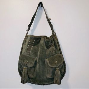 Zara Basic Collection Suede Hobo Bag